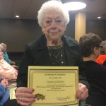 Frances DiPonzio was one of the only residents who was able to make all 7 weeks. She was so proud to shake Sheriff O'Flynn's hand and receive her certificate.