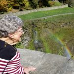 Helen Ottley's face says it all, the view of the rainbow near the falls just made you smile.